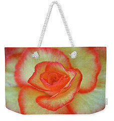 Yellow Rose With Red Tips Weekender Tote Bag