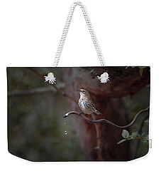 Yellow-rumped Warbler At Water Spout Weekender Tote Bag