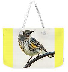 Yellow-rumped Warbler Weekender Tote Bag by Jim Moore