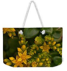 Yellow Sedum Weekender Tote Bag by Richard Brookes