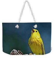 Yellow Sinatra Weekender Tote Bag