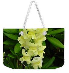 Yellow Snapdragon Weekender Tote Bag