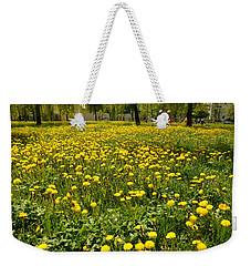 Yellow Spring Carpet Weekender Tote Bag by Henryk Gorecki