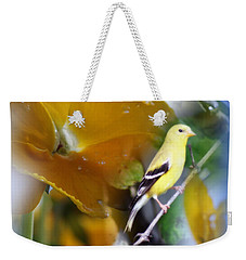 Yellow Spring Weekender Tote Bag by Cathy  Beharriell