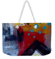 Yellow Square Weekender Tote Bag by Suzzanna Frank