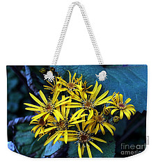 Weekender Tote Bag featuring the photograph Yellow Stars by Yumi Johnson