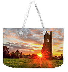 Yellow Steeple Star Weekender Tote Bag