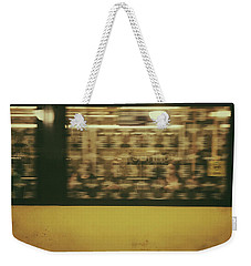 Weekender Tote Bag featuring the photograph Yellow Subway Train by Ivy Ho