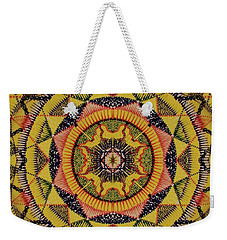 Weekender Tote Bag featuring the painting Yellow Sun by Kym Nicolas