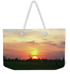 Yellow Sunset At Park Weekender Tote Bag