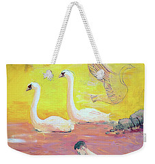 Yellow Swans With Love Potions Weekender Tote Bag