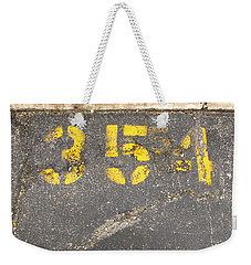 Yellow Three Five Five Four Weekender Tote Bag