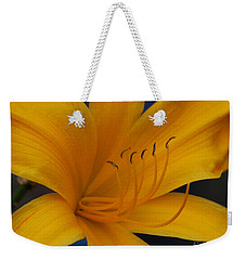 Yellow Tiger Lilly Weekender Tote Bag