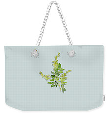 Weekender Tote Bag featuring the painting Yellow Tiny Flowers by Ivana Westin