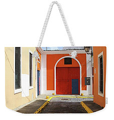 Yellow To Red Weekender Tote Bag
