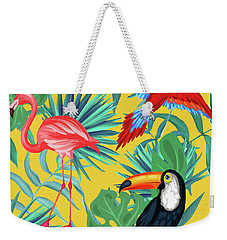 Yellow Tropic  Weekender Tote Bag