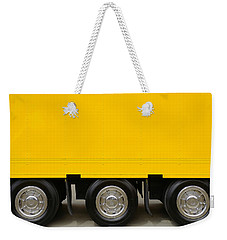 Yellow Truck Weekender Tote Bag by Carlos Caetano