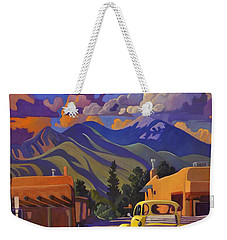 Yellow Truck Square Weekender Tote Bag