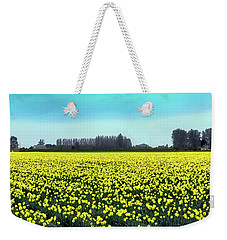 Yellow Tulip Fields Weekender Tote Bag by David Patterson