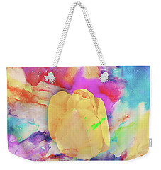 Yellow Tulip Weekender Tote Bag by Toni Hopper