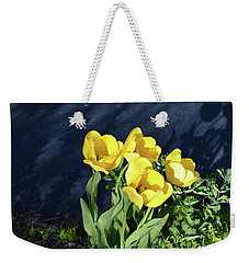 Weekender Tote Bag featuring the photograph Yellow Tulips by Kathleen Stephens