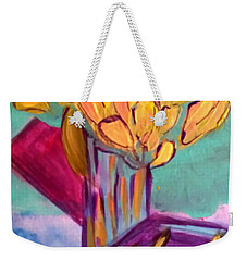 Yellow Tulips Weekender Tote Bag