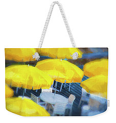 Yellow Umbrellas Weekender Tote Bag