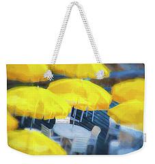 Yellow Umbrellas Weekender Tote Bag by Glenn Gemmell