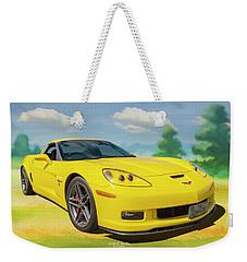Yellow Vette Weekender Tote Bag