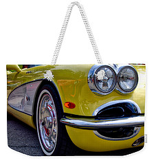Yellow Vette Weekender Tote Bag