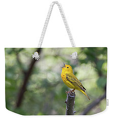 Yellow Warbler In Song Weekender Tote Bag