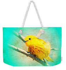 Weekender Tote Bag featuring the photograph Yellow Warbler by John Wills