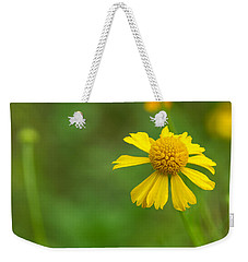 Yellow Wildflower Weekender Tote Bag by Christopher L Thomley