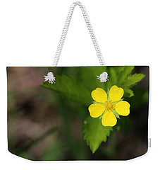 Yellow Wildflower Weekender Tote Bag