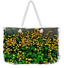 Yellow Wildflowers Weekender Tote Bag by Marsha Heiken
