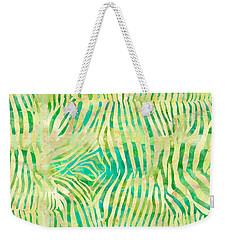Yellow Zebra Print Weekender Tote Bag