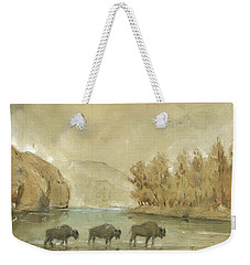 Yellowstone And Bisons Weekender Tote Bag