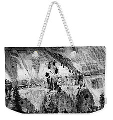 Yellowstone Canyon In Monochrome Weekender Tote Bag
