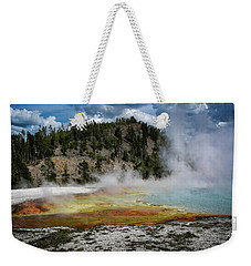 Weekender Tote Bag featuring the photograph Yellowstone Colors #13 by Scott Read