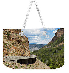 Weekender Tote Bag featuring the photograph Yellowstone Drive by John M Bailey