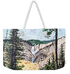 Yellowstone Falls Weekender Tote Bag