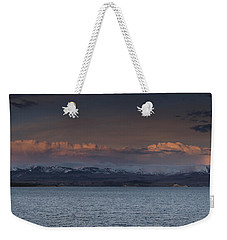 Yellowstone Lake At Sunset Weekender Tote Bag