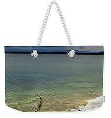 Yellowstone Lake Weekender Tote Bag by Dawn Romine