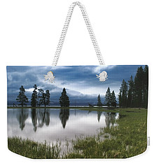 Yellowstone Lake Reflection Weekender Tote Bag