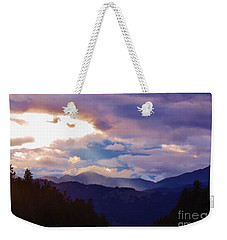Weekender Tote Bag featuring the photograph Yellowstone by Larry Campbell