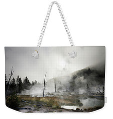 Yellowstone Morning Fog Weekender Tote Bag