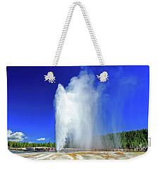 Weekender Tote Bag featuring the painting Yellowstone National Park Beehive Geyser by Christopher Arndt