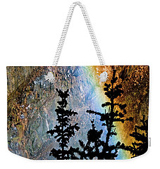 Weekender Tote Bag featuring the photograph Yellowstone Rainbow by Norman Hall