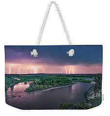 Yellowstone River Lightning Weekender Tote Bag