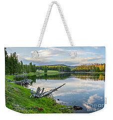 Yellowstone River Off Grand Loop Weekender Tote Bag